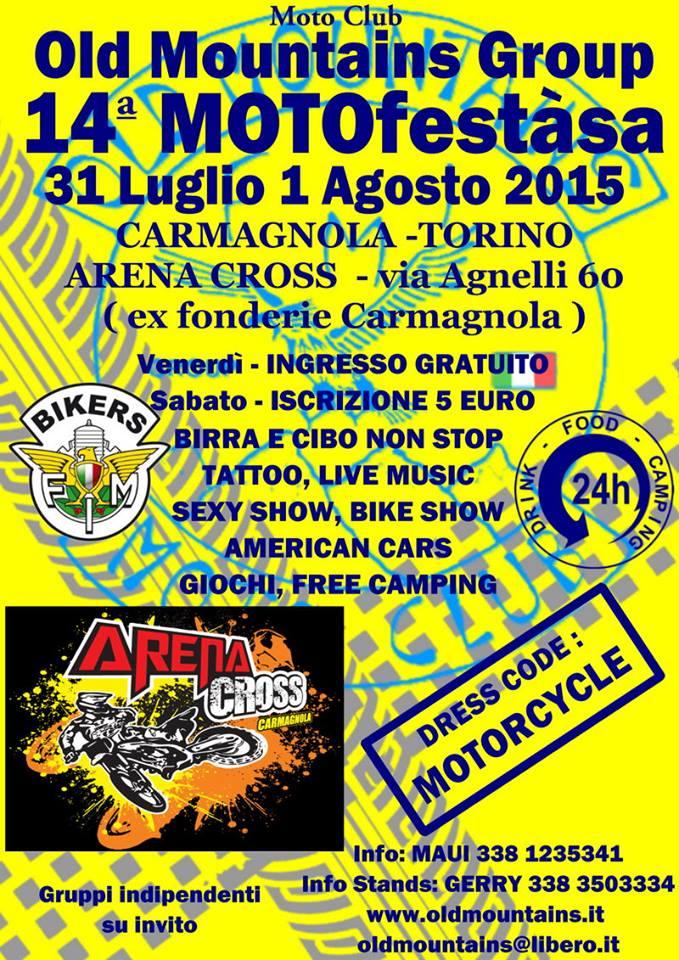 Motofestasa 2015 a Carmagnola (TO), una grande festa biker vi aspetta