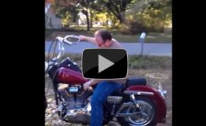 Primo giro in Harley, il piu breve della storia, un disastro colossale (Video)