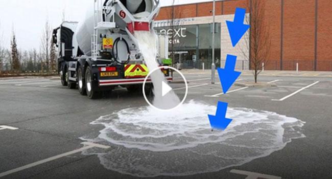 TopMix, l'asfalto super drenante ideato da una azienda inglese, la sicurezza della guida sul bagnato (Video)