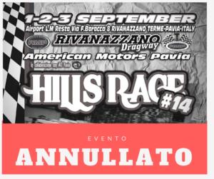 L'evento Hills Race 2017 è stato annullato