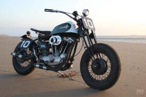 Harley-Davidson Sportster in salsa beach racer