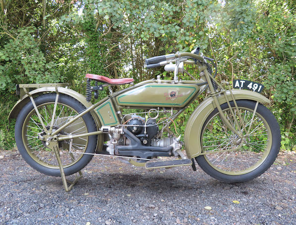 c.1920 Harley-Davidson 584cc Modello W Registrazione n. AT 491 Motore n. 20W1932