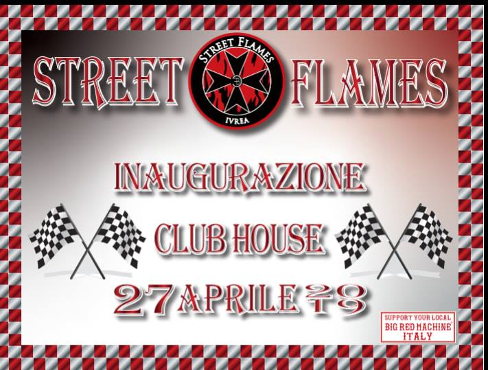 Inaugurazione Club House Street Flames