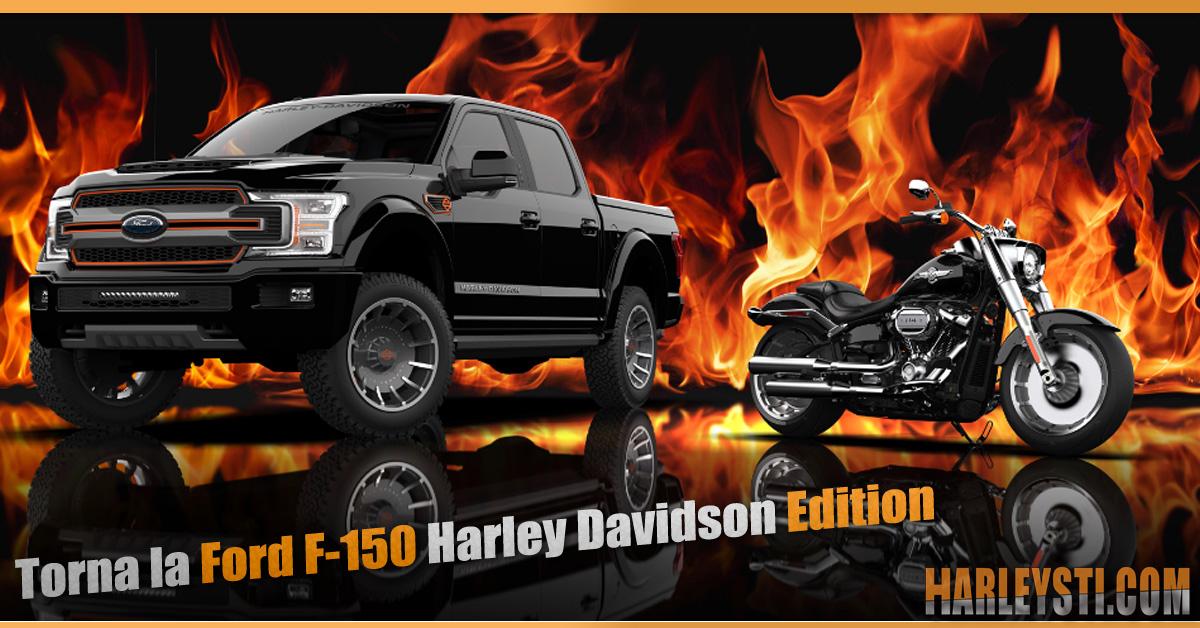 Nel 20° anniversario torna la  Ford F-150 Harley Davidson Edition