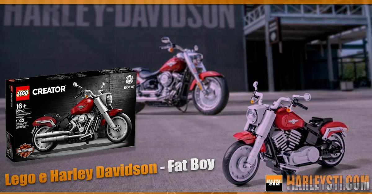 """La Lego in collaborazione con Harley Davidson realizza la Fat Boy """"Creator Expert"""""""